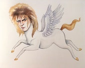 David Bowie from Labrynth as a pegasus