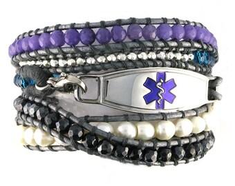 Dream Wrap Beaded Medical Bracelet
