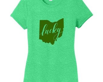 Lucky Ohio - St. Patrick's Day Ohio Quote Women's Fitted T-Shirt