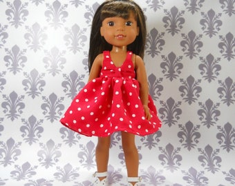 Designed for 14.5 inch dolls such as Wellie Wishers,Red Dot Party Dress, 04-2013