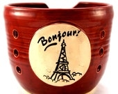 Bonjour - A Yarn Bowl for Francophiles - Ready to Ship