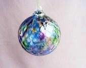 Hand Blown Art Glass Christmas Ornament/Ball/Suncatcher,   Multicolored