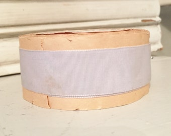 Antique Blue/grey Ribbon on Original Spool