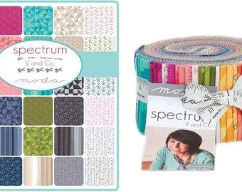 Spectrum - Jelly Roll by Moda -  40 2.5 inch strips