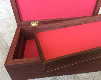 Wooden Medal or jewelry box, small, made from Jarrah