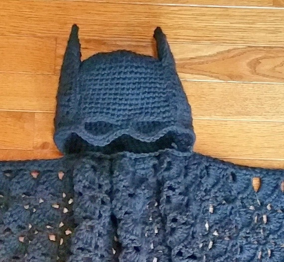 Batman Hooded Blanket or Toddler Cape Crochet Pattern PDF - INSTANT DOWNLOAD ...