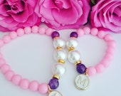 Mummy and Me Bracelet Set, Personalised Bracelet, Beaded Bracelets, Friendship Bracelets, Best Friend Gifts, Mothers Day Gift, Mommy and Me