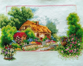 New Finished Completed Cross Stitch - Spring - L21