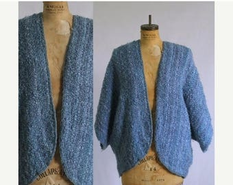 Vintage Crochet Shrug Purple Shrug Sweater Shrug 1970s Shrug Knit Shrug Womens Sweater Shrug One Size Fits All Small Medium Large