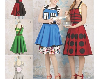 Gaming Aprons Pattern, Aprons in Two Lengths Pattern, Aprons by LoriAnn Costume Designs, Simplicity Sewing Pattern 8279
