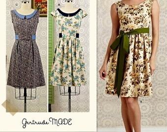 Classic Dress Pattern, Spring Dress Pattern, Summer Dress Pattern, Gathered Skirt Dress Pattern, Simplicity Sewing Pattern 8294