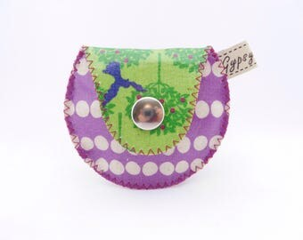 The Mini Gypsy Change Purse -Vegan Edition- Printed Vinyl Coated Canvas/ Vegan Coin Purse / Ready to Ship
