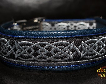 "Dog Collar ""Celtic Knot"" by dogs-art, leather dog collar, metal buckle collar, dog collar leather, celtic knot, celtic dog collar, collar"