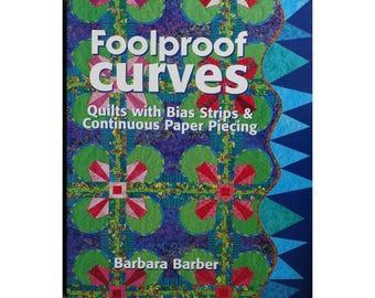 Foolproof Curves Quilt Book, Quilt Patterns, Barbara Barber, Quilt Book, Vintage Quilt Books