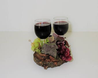 Wine for the Bride and Groom Wedding Cake Topper