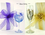 """7 Bulk Gift Boxes 10"""" x 5"""" for Glassware Wedding Favors, Bachelorette Gifts, Stemware Wedding Party Gift Box Bridesmaid Gift Boxes"""