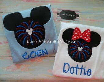4th of July Independence Day - Patriotic Mickey and Minnie - Disney Vacation Shirts 4th of July - Red White Blue - American Mickey Minnie