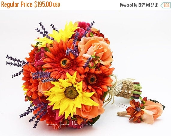 Winter sale autumn wedding bridal bouquet by for Fall wedding bouquets for sale