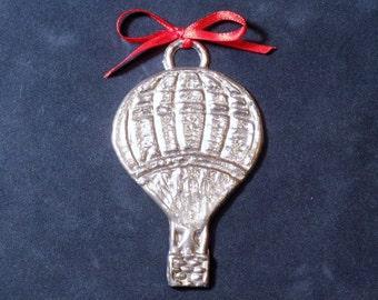 Pewter Hot Air Balloon Ornament