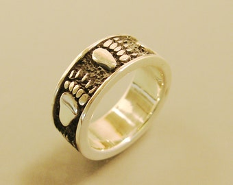 Grizzly Bear Track Ring Sterling Silver