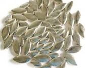 Silver Ceramic Petal Leaves Mix//Mosaic Supplies//Mosaic Pieces//Crafts//Mosaic Tiles