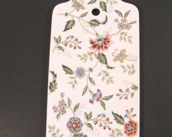 Cheese Tray - Server - Dish - Gorgeous Floral Porcelain - Andrea by Sadek - Buckingham Pattern - Made in Japan