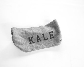 Kale Head Band - Womens Head Band-  Unisex - Heather Grey kale, turban - hat - headwear - hair accessories