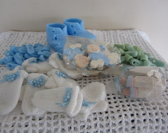 Scrapbook Cards and Craft Supplies for Baby Boy Small Embellishments Baby Shower