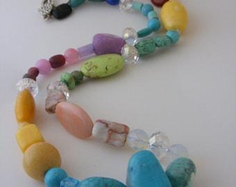 Colorful Multi - Gemstone Necklace