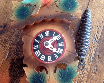 VINTAGE DECOR ~ Cuckoo Clock - Juggili Cuckoo clock  - German wooden - complete but needs Work