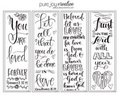 Color your own Valentines Day Bookmarks