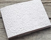 Wedding Guest Book, White Floral Paperback Journal