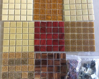 Brown-Burgundy Mix-1sq ft// neutral tile mix