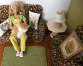 Barbie Wooden Living Room Set 1/6 Scale: New Patterns
