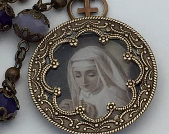 Religious Necklace The Novice Nun Soldered Pendant