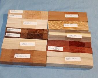 20 Pen Blanks, 10 Varieties, Domestic Wood, Exotic Wood, Wood Blanks, Pen Turning Blanks, Pen Turning, Wood Pens, E217