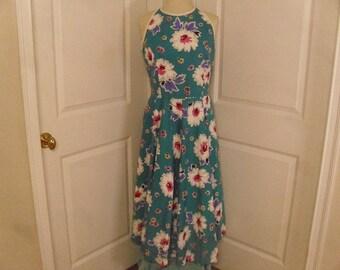 Vintage  1980's  Lanz Dress w/Full Sweep Skirt