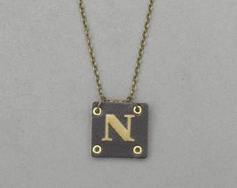 Square Leather N Necklace