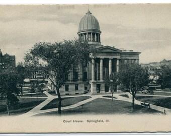 Court House Springfield Illinois 1907c postcard