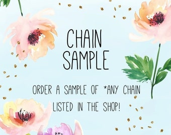 MOVING SALE CHAIN Sample / Order a Sample of Chain Listed in the Shop / Try Out Our Best Sellers
