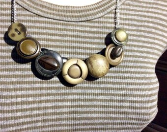 Wearable Art button necklace