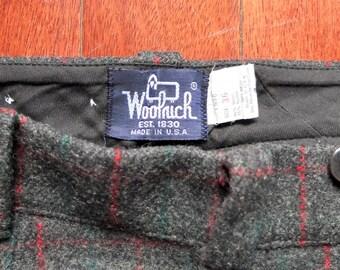 "Vintage Woolrich Malone Plaid Woolen Pants 36"" X 30.5"""