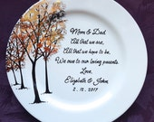 Wedding Mother of the bride gift - Gift Mother of the Groom Wedding gift for Mom and Dad - Thank you Mom & Dad -Parents gift-ELEGANCE Trees