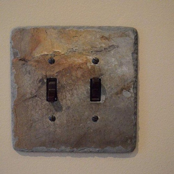 Decorative double toggle switch plate switchplate slate outlet - Decorative switch wall plates ...