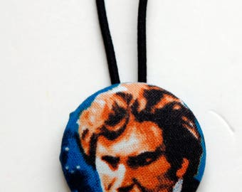 Han Solo Fabric Covered Giant Button Ponytail Holder