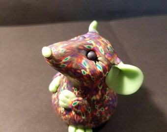Minty Rainbow Mouse Pudgy Critter