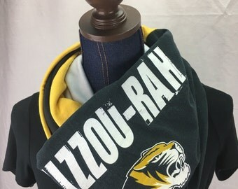 University of Missouri Recycled T Shirt Infinity Scarf