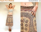 30% off sale - 70s India Cotton Skirt  //  Wrap Skirt  //  THE PERSUASION