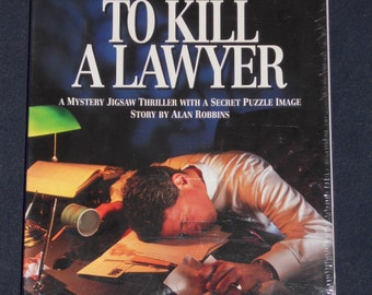 """Be Puzzled-""""To Kill A Lawyer""""-Mystery Jigsaw Puzzle-Thriller-NIB"""