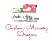Custom Stuffed Memory Dragon for Ariane C.